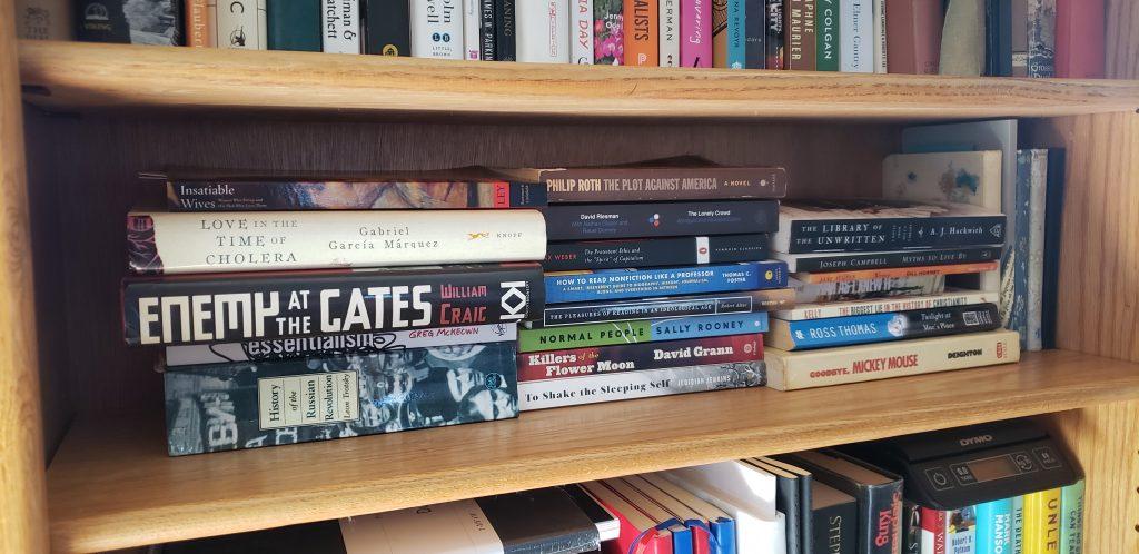 Book shelf full of books