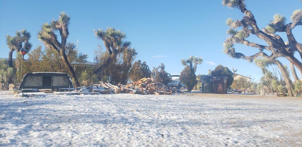 Snowy desert front yard.